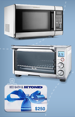Breville Toaster Oven, Cuisinart Microwave and $200 Bed Bath and Beyond Gift Card