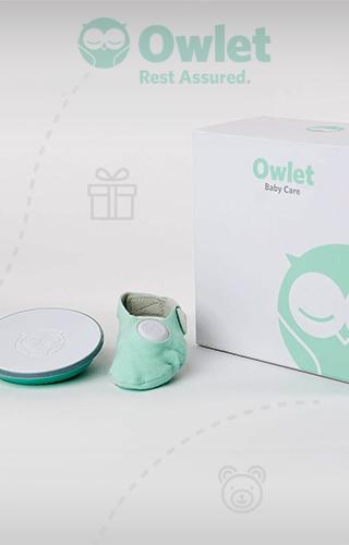 Moniteur pour bébé Owlet - Moniteur pédiatrique de rythme cardiaque et d'apnée