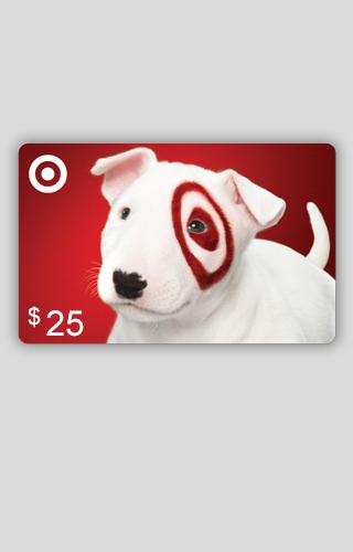 Tarjeta de regalo de $25 de Target