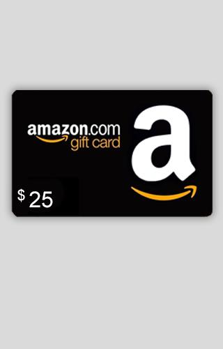 Tarjeta de Regalo de $25 de Amazon.com