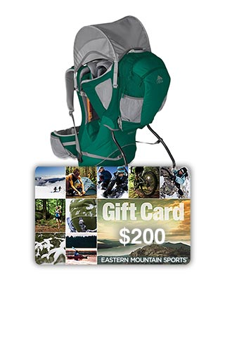 Kelty Pathfinder Child Carrier and $200 EMS Gift Card