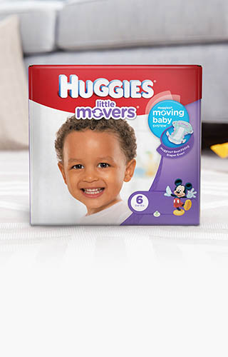 Huggies® Little Movers, Big Pack (available in sizes 3-6)
