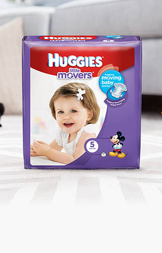Huggies® Little Movers, Jumbo Pack (available in sizes 3-6)