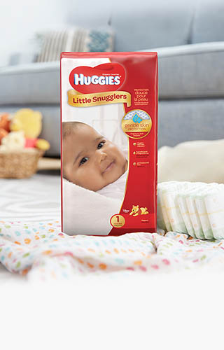 Huggies® Little Snugglers, Jumbo Pack (available in sizes N-2)