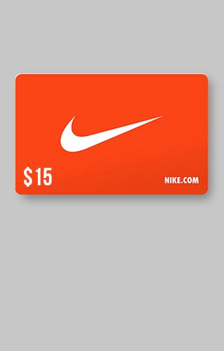 Tarjeta de regalo de $15 de Nike