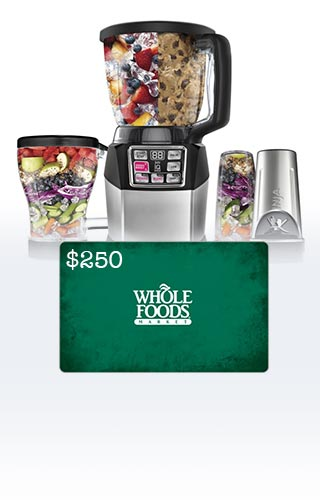 Nutri Ninja® Blender y $ 250 Whole Foods Tarjeta de Regalo