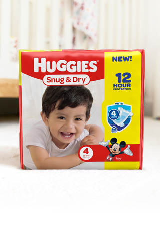 Huggies® Snug & Dry, Jumbo Pack (available in sizes 1-6)