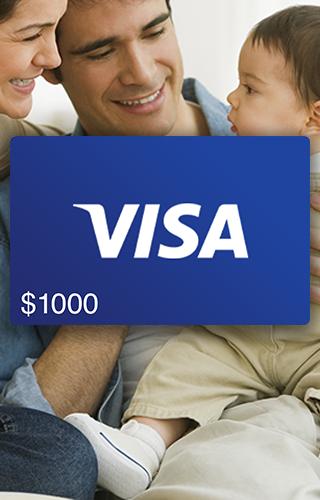 $1000 Visa Gift Card
