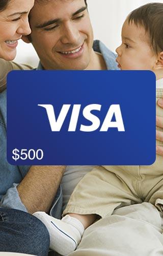 Carte-cadeau Visa de 500 $ Loterie